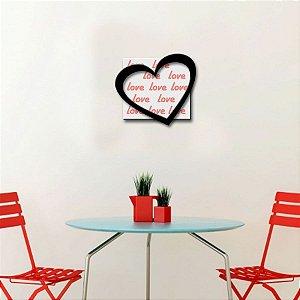 Quadro com Imagem Sobreposta - Love - Tamanho 30cm X 30cm