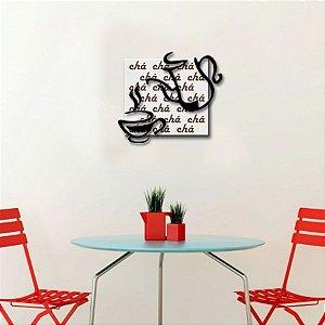 Quadro com Imagem Sobreposta - Chá - Tamanho 30cm X 30cm
