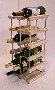 Adega de Vinho de Madeira 15 Garrafas - Cor Branca
