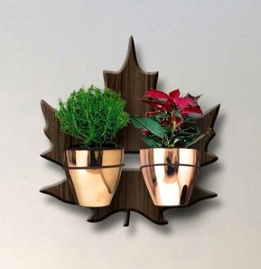 Treliça para Plantas Modelo Plátano - Jardim Vertical - com 02 Vasos Cachepô Gold