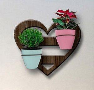 Treliça para Plantas Modelo Coração - Jardim Vertical - com 02 Vasos Autoirrigáveis Standard