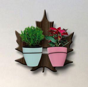 Treliça para Plantas Modelo Plátano - Jardim Vertical - com 02 Vasos Autoirrigáveis Standard