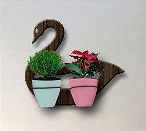 Treliça para Plantas Modelo Cisne - Jardim Vertical - com 02 Vasos Autoirrigáveis Standard