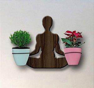 Treliça para Plantas Modelo Yoga - Jardim Vertical - com 02 Vasos Autoirrigáveis Standard