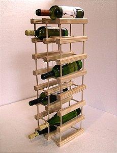 Adega de Vinho de Madeira 21 Garrafas - Cor Preta