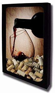 Quadro Porta Rolhas de Vinho Tamanho 30cm X 40cm