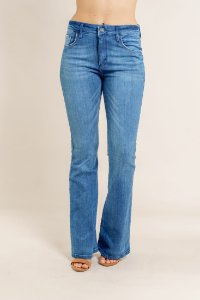 Calça Jeans Recorte Bolso