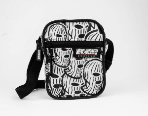 SHOULDER BAG BANDIT MASK BLACK  AND WHITE 4.0