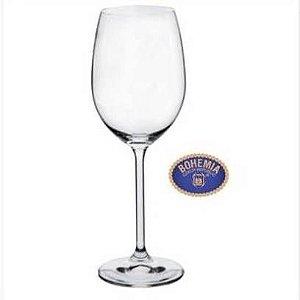Jogo de Tacas de Cristal Bohemia - Modelo For Your Home - Vinho Tinto 350 ml - Jogo com 6 tacas