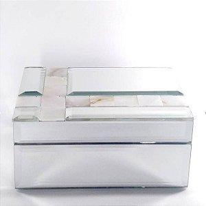 Porta Joias ou Caixa Multi Uso Espelhada com Madreperola com Tampa -Ref.KV0042 - BTC