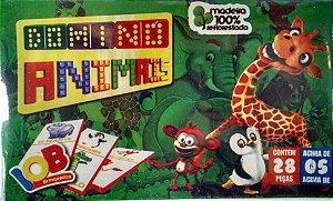 Jogo Pedagogico Brinquedo Educativo - Domino Animal - Ref.65
