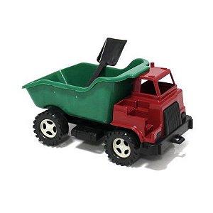 Caminhão Caçamba com Pa e cabine dupla externa - Ref.001 Plaspolo - Varias cores