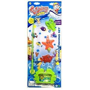 Jogo Pescaria - Fishing Game - Cartela com 5 pecas - Altimix - AB7320 mv