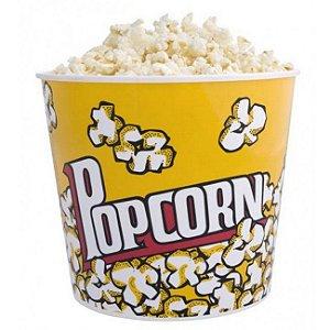 Pote de Pipoca Plastico Popcorn GRANDE - 18 cm altura - Ref.0808-1324