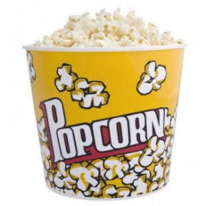 Pote de Pipoca Plastico Popcorn GRANDE - 0241 - 18 cm altura - Elegantec