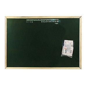 Lousa de Madeira M - 41 x 32 cm - Quadro Verde - Ref. 566544 - Daterra