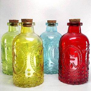 Frasco de vidro para parfumes e essencias - garrafa - 230ml - VARIAS CORES - FR161241
