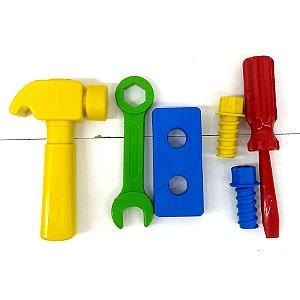 Kit de ferramentas infantil com 6 pecas - 1043 - Plaspolo