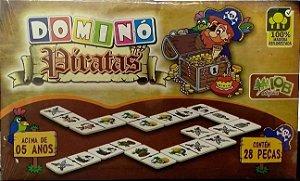 Jogo Pedagogico Brinquedo Educativo DOMINO PIRATAS - IOB MADEIRAS  Ref.64