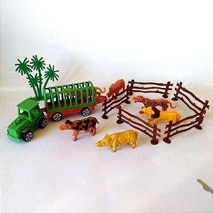 Kit animais com 14 pecas - Circo Animal - AB7324