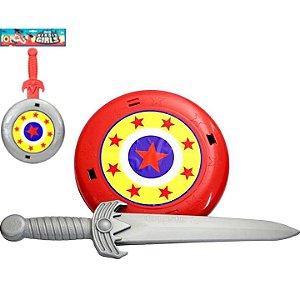 Espada com Escudo - LePlastic - LINHA HEROIS GIRLS- Ref.6021 pex 07