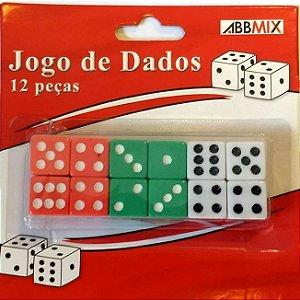 Jogo de Dados - Cartela com 12 dados - GUBLY0613 - Elegantec