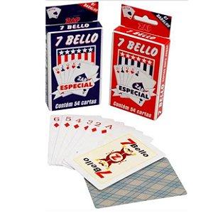 Baralho 7 Belllo - Jogo de Cartas - KIT COM 12 JOGOS - 7803