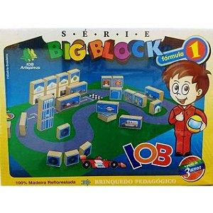 Jogo Pedagogico Brinquedo Educativo - Big Block Formula 1 - IOB Madeira