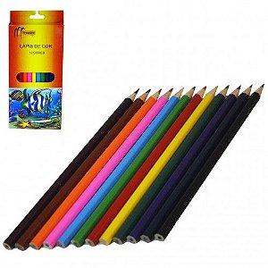 Lapis de Cor com 12 cores Monaliza Color - MZ-65160