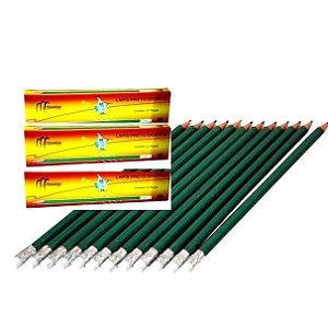 Lapis HB2 grafite preto com borracha Monaliza - MZ-65159 - 3 caixas com 12 pecas - ttoal de 36 lapis