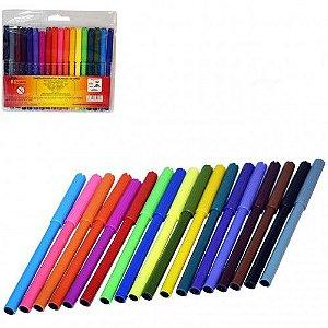 Canetinha Hidrocor - Caneta Hidrografica 18 cores MZ-65164 Monaliza Color