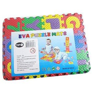 Tapete Educativo EVA Puzzle Mat - Quebra Cabeca Pedagogico  EVA numeros e letras - BA17696 BA17697