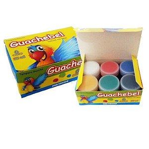 Tinta Guache escolar  Guachebel - 6 cores - 5062