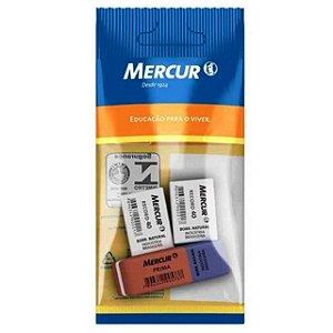 Borracha escolar RECORD 40 e  PRIMA kit com 3 pecas - MERCUR - 6279