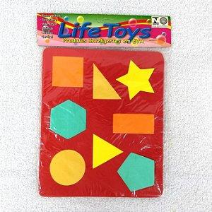 Jogo Pedagogico Educativo em EVA - Formas Geometricas para Encaixe - 19x23 cm - MINGONE
