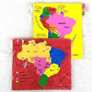 Jogo Pedagogico Educativo em EVA - Encaixe Mapa - MINGONE