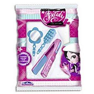 Chapinha de Cabelo de Brinquedo com acessórios - Espelho/Pente e Escova - Beauty Collection - Altimar -  2645
