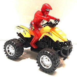 Quadriciclo a Friccao 16 cm com boneco BA16396
