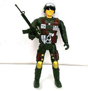 Boneco Soldado Policial 30 cm Articulado - SQ3836
