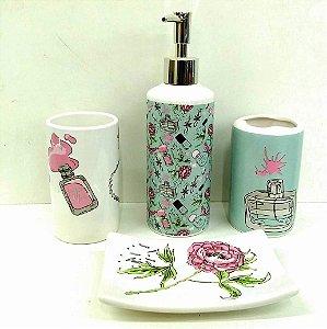 Jogo de Banheiro em ceramica - Woman - com 4pc - Ref.325 - Susan - mv1
