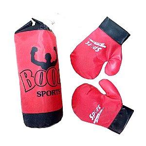 Saco de Boxe Intantil com 2 luvas e um saco de pancada - BA01985