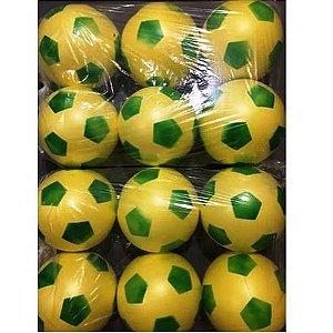 Bola Dente de Leite - Bola de Vinil - Pacote com 12 bolas - Brasil Copa Verde Amarelo -Ref.016