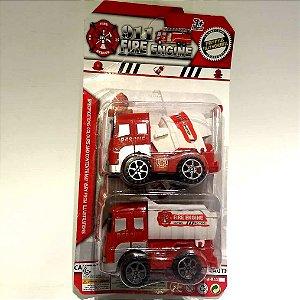 Caminhao de bombeiros - Kit Resgate com 2 carrinhos - AB7386