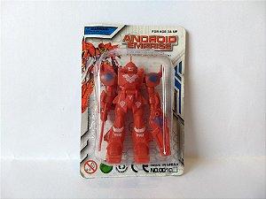 Guerreiro Espacial Robo Android pequeno 8 cm 001CA