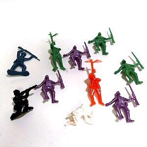 Soldadinho miniatura - kit de exercito com 10 soldados - 123