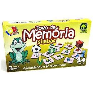 Jogo Pedagogico Brinquedo Educativo  - Jogo da Memoria Silabas Ref.068 - IOB Madeira