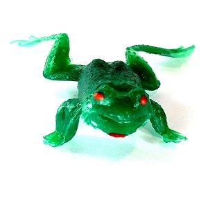 Sapo de brinquedo emborrachado verde 3142 - Toys Festas