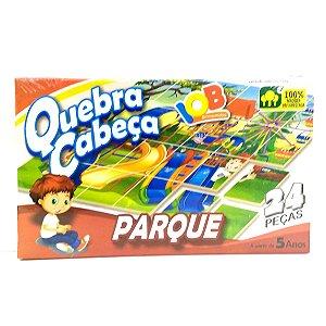 Jogo Pedagogico Brinquedo Educativo IOB Madeira - Quebra Cabeca PARQUE - Ref.008