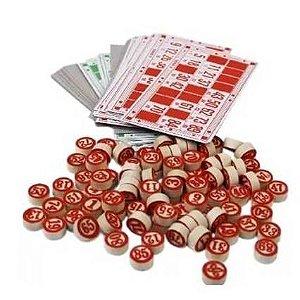 Jogo de Bingo com 90 Pedras em Madeira e 48 Cartelas GUBLY0635