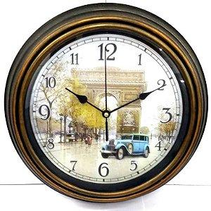 Relogio de parede 30 cm - redondo - ARC DE TRIOMPHE PARIS - ARCO DO TRIUNFO PARIS - Ref.570-ARCO DO TRIUNFO